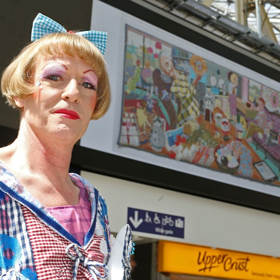 Grayson Perry at the Art Everywhere launch